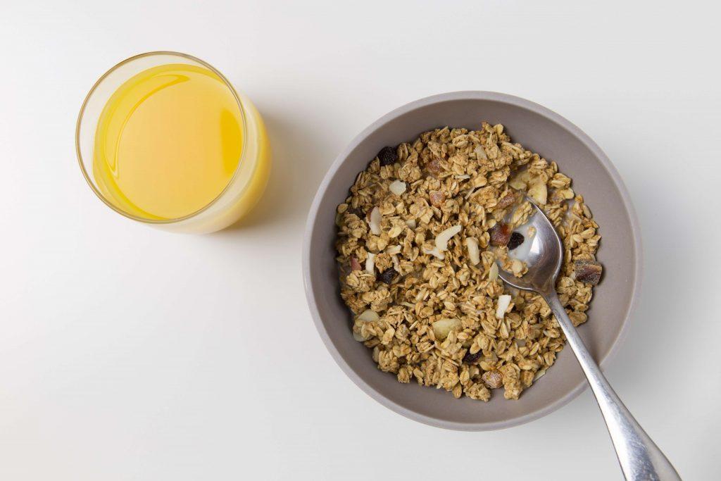 whole-grain oatmeal for breakfast