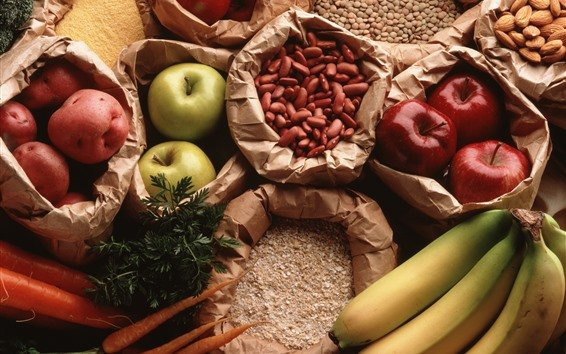 Still-life-apples-bananas-carrots-nuts-beans-potatoes_m